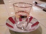 トルコのお茶のグラスです!